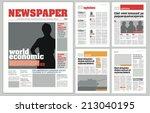 Graphical design newspaper template | Shutterstock vector #213040195