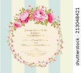 border of flowers in vintage... | Shutterstock .eps vector #213048421