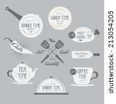 set of badges and labels...   Shutterstock .eps vector #213054205