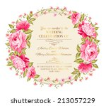 awesome vintage label of color... | Shutterstock .eps vector #213057229