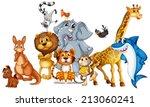 Illustration Of Many Animals...