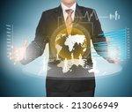 businessman work with high... | Shutterstock . vector #213066949