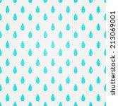 seamless watercolor rain... | Shutterstock .eps vector #213069001