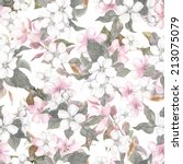 seamless repeated floral... | Shutterstock . vector #213075079