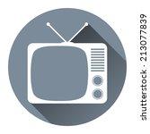 hipster tv set icon flat design ...   Shutterstock . vector #213077839