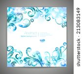 brochure template with swirls.... | Shutterstock .eps vector #213083149