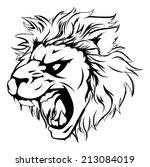 a powerful lion animal mascot... | Shutterstock .eps vector #213084019