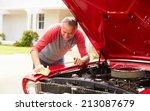 retired senior man cleaning... | Shutterstock . vector #213087679