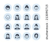person icon set   Shutterstock .eps vector #213090715