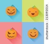 halloween pumpkin | Shutterstock .eps vector #213092014