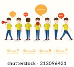 men talk and gather together...   Shutterstock .eps vector #213096421