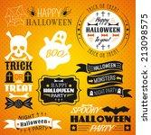 set of halloween labels ... | Shutterstock .eps vector #213098575