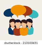 people design over beige...   Shutterstock .eps vector #213103651