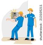 individual employee being... | Shutterstock .eps vector #213105211