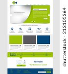 corporate website template.... | Shutterstock .eps vector #213105364