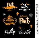 halloween party. happy holiday. ... | Shutterstock .eps vector #213107041