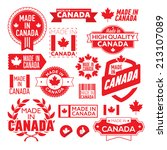 the label made   in canada | Shutterstock .eps vector #213107089