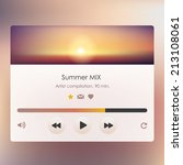 music player design vector for...