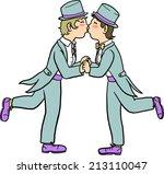 lesbian wedding | Shutterstock .eps vector #213110047