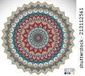 mandala. round ornament pattern....   Shutterstock .eps vector #213112561