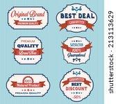 set of vintage retro labels ... | Shutterstock .eps vector #213113629