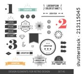 hipster style infographics... | Shutterstock .eps vector #213115045