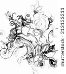 black and white  graphics with...   Shutterstock . vector #213123211