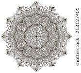 mandala. round ornament pattern....   Shutterstock .eps vector #213127405