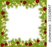 christmas card with decorations ... | Shutterstock . vector #213128047