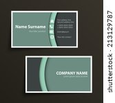 modern simple business card... | Shutterstock .eps vector #213129787