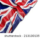 england uk wavy flag with white | Shutterstock . vector #213130135