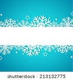 blue christmas background | Shutterstock .eps vector #213132775