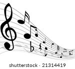 musical notes staff with lines... | Shutterstock .eps vector #21314419