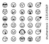 Vector Icons Of Smiley Faces O...