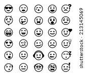 Vector Icons Of Smiley Faces O...