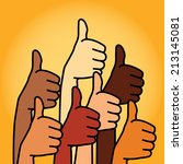 like and thumbs up symbol.... | Shutterstock .eps vector #213145081