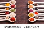 collection of various spices in ... | Shutterstock . vector #213149275