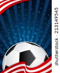 soccer america background | Shutterstock .eps vector #213149545