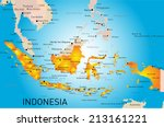 indonesia country vector color... | Shutterstock .eps vector #213161221