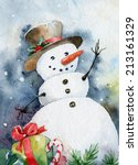 bright christmas card. cheerful ... | Shutterstock .eps vector #213161329