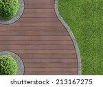 Garden Detail In Aerial View...