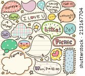 set of cute thought bubbles | Shutterstock .eps vector #213167704