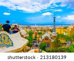 barcelona  spain  aug 29  2009  ... | Shutterstock . vector #213180139