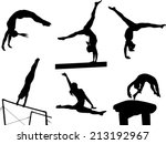 Silhouettes Of Several...