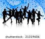 illustration of people jumping | Shutterstock .eps vector #21319606