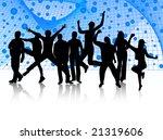 illustration of people jumping | Shutterstock .eps vector #21319606