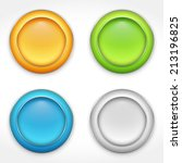 colorful round buttons  vector...
