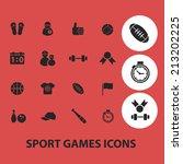 fitness  sport  games isolated... | Shutterstock .eps vector #213202225
