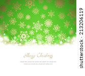 christmas greeting card with... | Shutterstock . vector #213206119