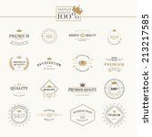 Set of premium quality labels and badges | Shutterstock vector #213217585